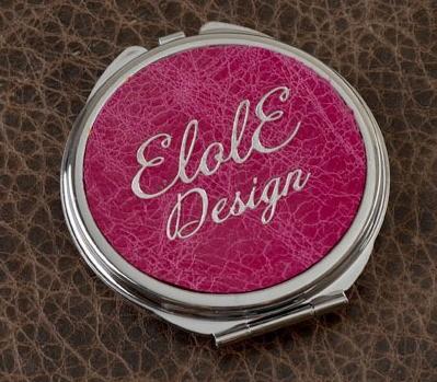 Карманное зеркальце, коллекция Elole Design (розовый, тип 2)