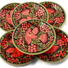 Набор из 6 тарелок Жар-птица