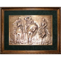 Картина из металла Три богатыря