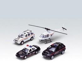 Игровой набор машин Welly Полиция
