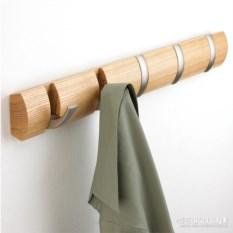 Деревянная настенная вешалка на 5 крючков Flip