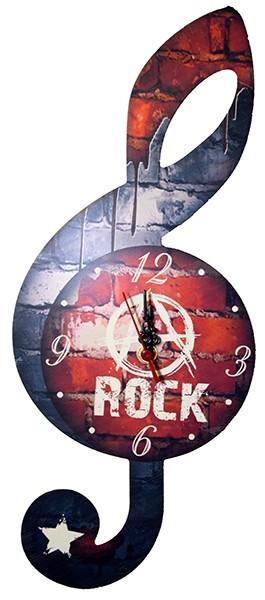 Настенные часы Музыкальный ключ