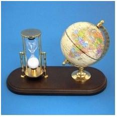 Настольный набор: глобус, песочные часы