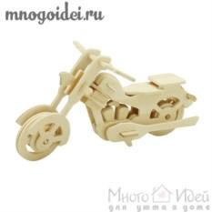Деревянный конструктор 3D Мотоцикл