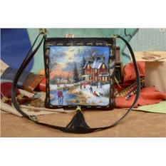 Сумка-планшет Зима в уютном пригороде Elole Design