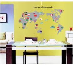 Наклейка декоративная Карта мира