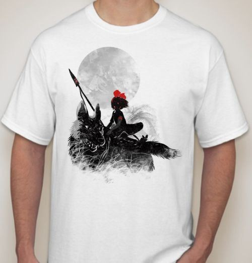 Мужская футболка Девочка на волке