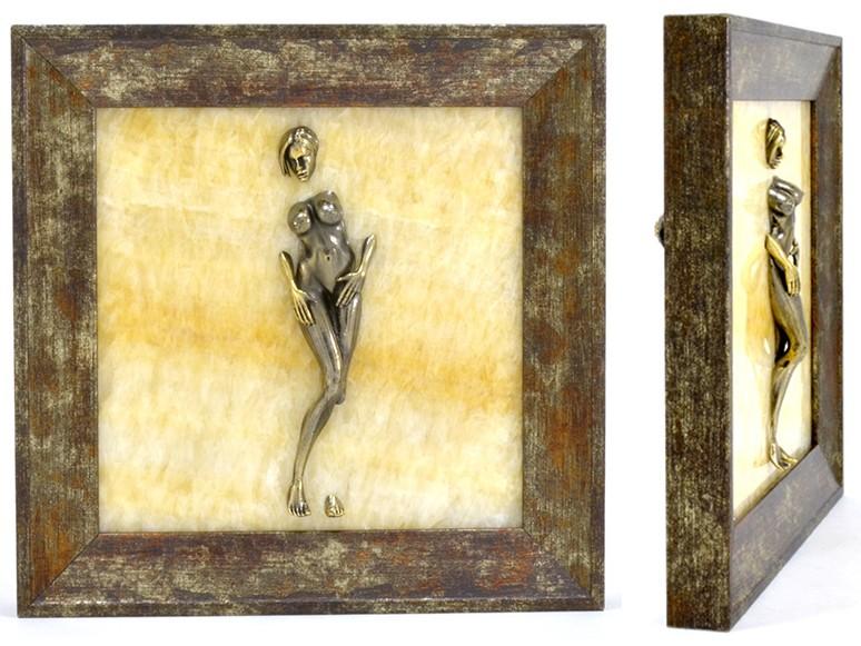 Картина из оникса Обнаженная девушка