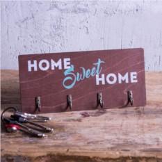 Настенная деревянная ключница Home Sweet Home