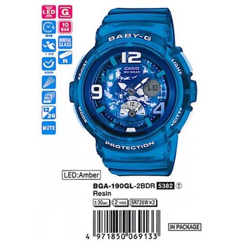 Женские наручные часы Casio Baby-G BGA-190-7B