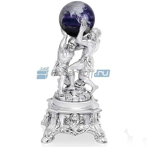 Скульптура Два атланта, покрытие серебро 925 пробы