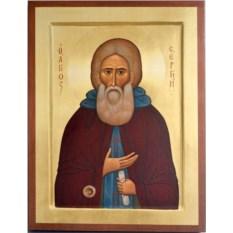 Икона на доске Сергий Радонежский Святой преподобный
