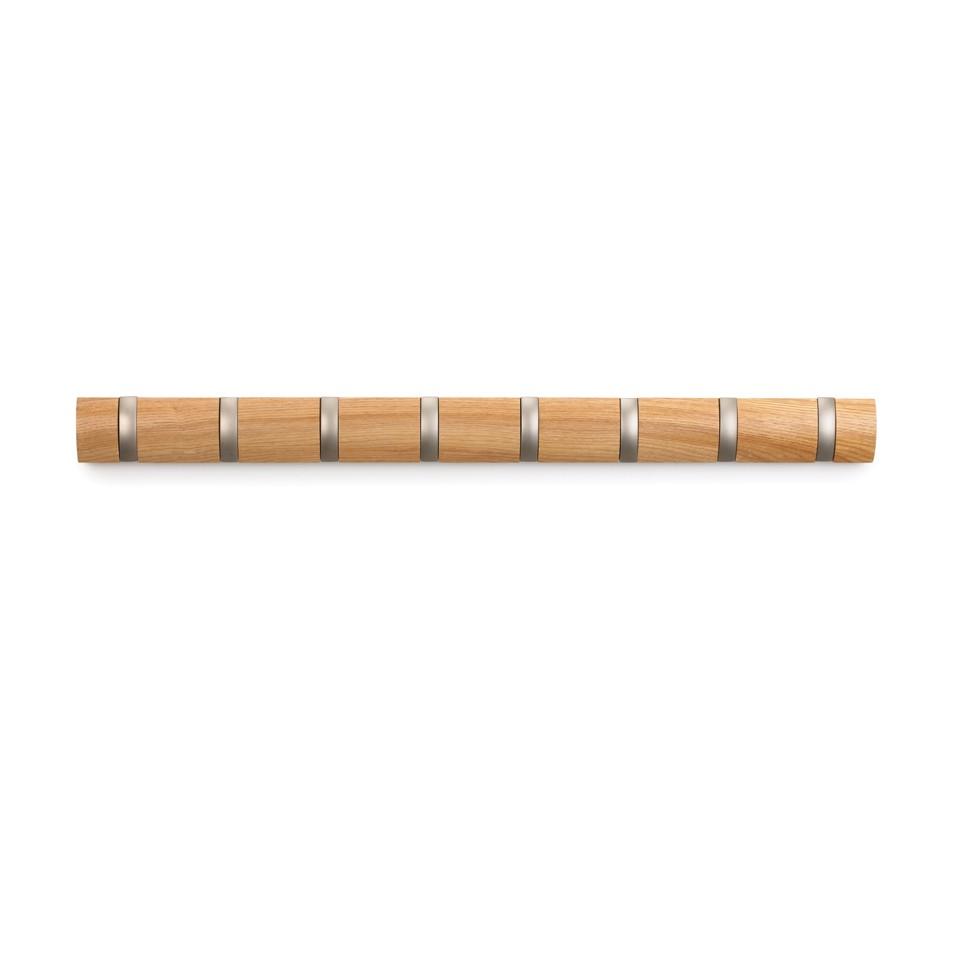 Гризонтальная настенная вешалка на 8 крючков Flip