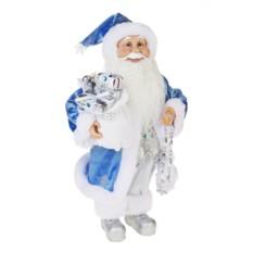 Новогоднее украшение Синий Дед Мороз с подарками