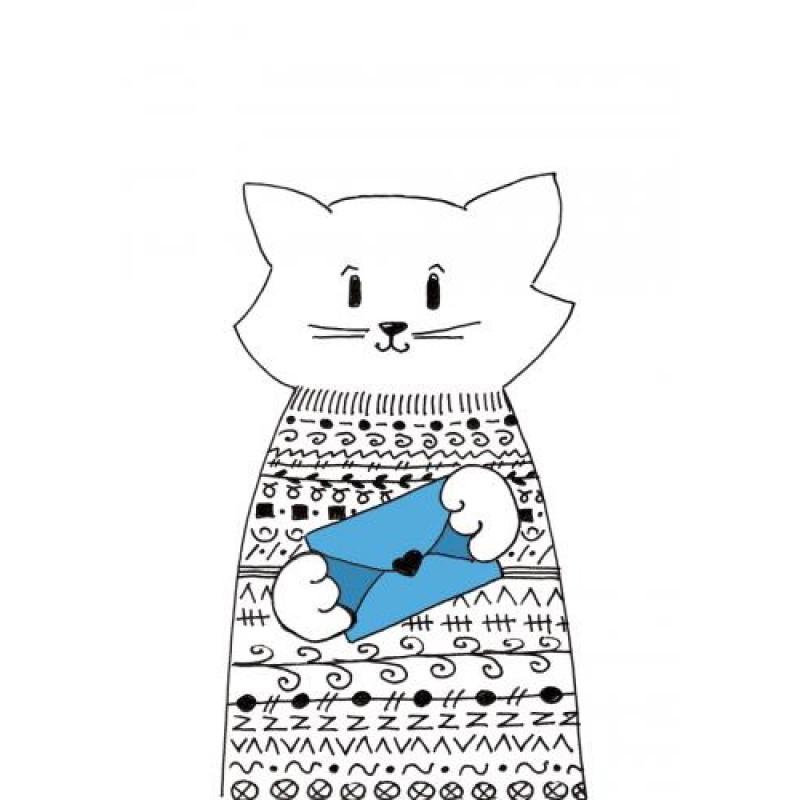 открытка котик с письмом остекление балкона или