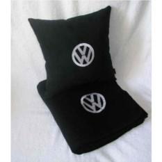 Черный плед с белой вышивкой Volkswagen
