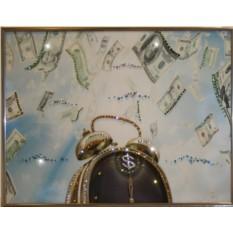 Картина с кристаллами Сваровски Время деньги-4