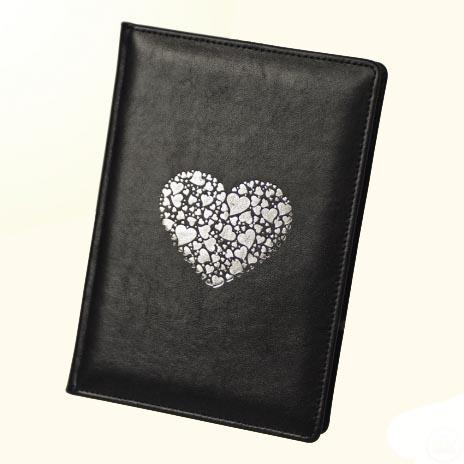 Ежедневник «Сердце» черный