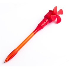 Красная шариковая ручка Ветряная мельница