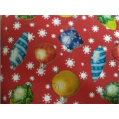 Упаковочная бумага с елочными игрушками Новогодняя