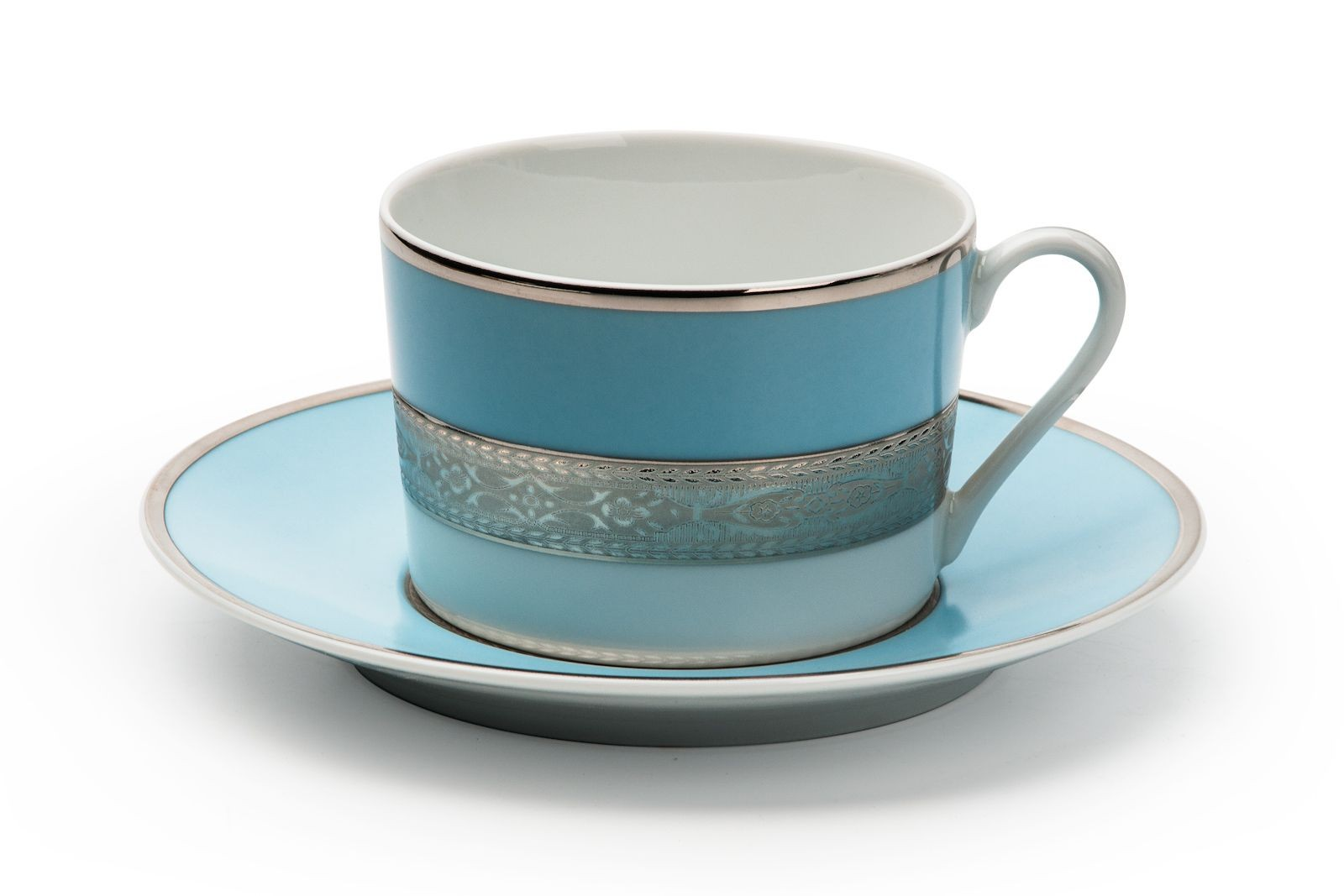 Фарфоровый набор чайных пар MONACO TURQUOISE MONALISA