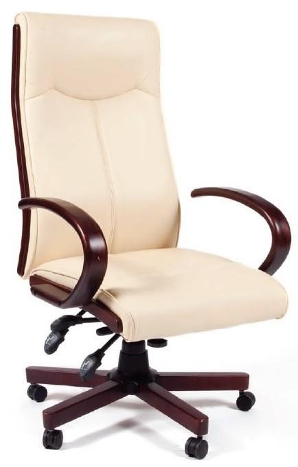 Кресло руководителя CHAIRMAN 411, бежевая экокожа