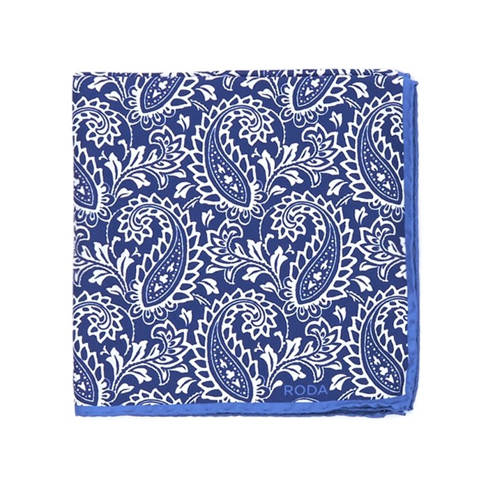 Платок Roda, paisley синий