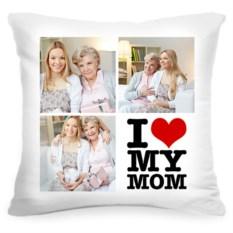 Подушка с вашим фото I love my mom