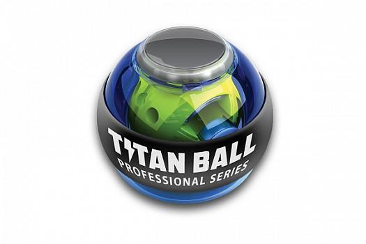 Кистевой тренажер Titan ball с подсветкой, синий