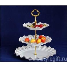 Фарфоровая фруктовница Лаура