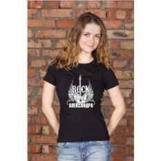 Женская футболка с вашим текстом Рок-стар