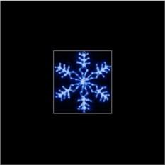 Синяя светодиодная мерцающая снежинка (40 см)