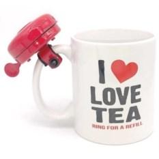 Кружка со звонком Love Tea