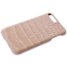 Кремовый чехол на iPhone 7 plus из крокодиловой кожи