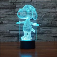 3D лампа Снупи