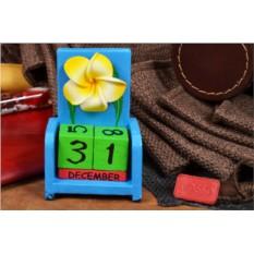 Настольный календарь с кубиками Цветок