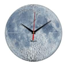 Настенные часы с изображением лунной поверхности
