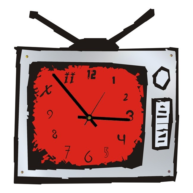 Часы Телевизор, зеркальные