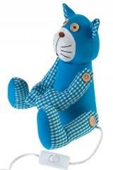 Электрический настольный светильник Голубой кот