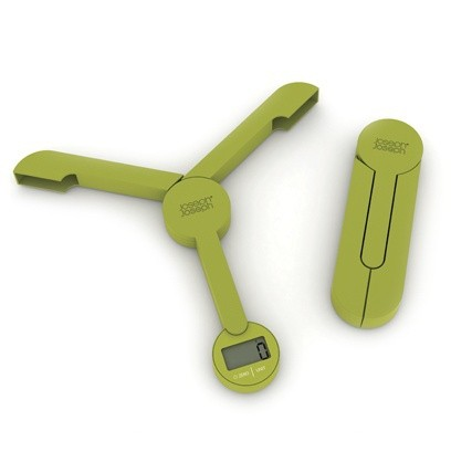 Зеленые складные кухонные весы TriScale