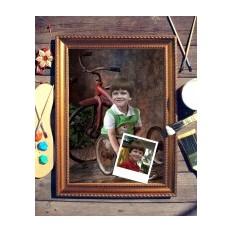 Портрет по фото Мальчик с велосипедом