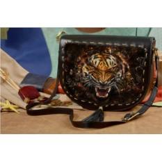 Женская сумка-седло Морда тигра