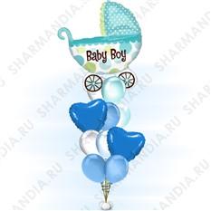 Букет из шаров С рождением мальчика!