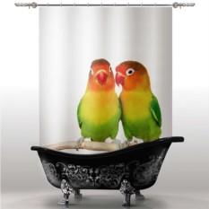 Шторка для ванны Попугаи
