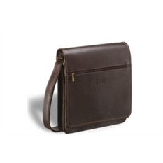 Кожаная сумка через плечо Brialdi Dallas (цвет — коричневый)