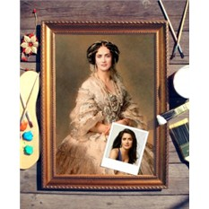 Портрет по фото Дама в жемчуге