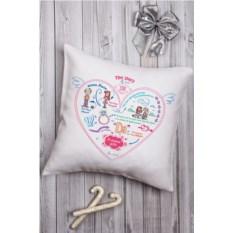 Декоративная именная подушка История одной любви