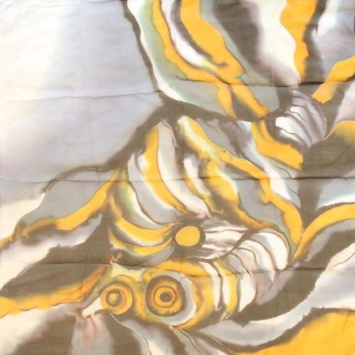 Платок шелковый Рыбки