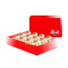 Фруктовые конфеты  Клубника в белом шоколаде