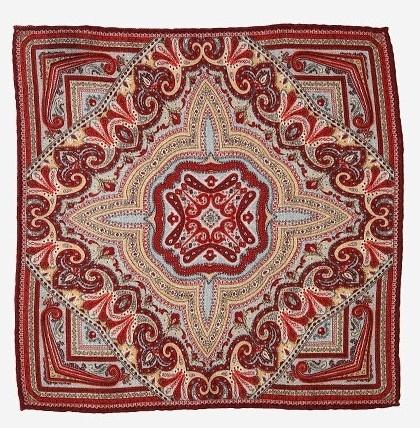 Красный платок Calabrese с восточным узором